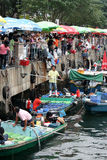 Fiskmarknad i Hong Kong `, Royaltyfri Bild