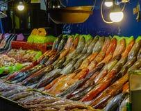 Fiskmarknad i Manila, Filippinerna royaltyfri bild