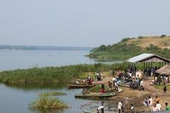 Fiskmarknad i Uganda Royaltyfri Foto