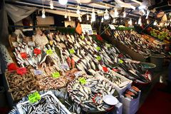 Fiskmarknad Kadikoy Istanbul arkivbild