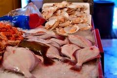 Fiskmarknad på Chioggia Italien Arkivfoton