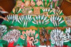 Fiskmarknad på Istanbul, Turkiet Arkivbild