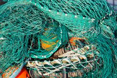 fisknät Arkivbilder