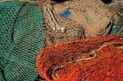 Fisknät royaltyfri bild
