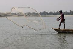 Fisknät i Bangladesh arkivfoto
