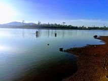 Fisknät i Laos royaltyfria foton
