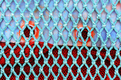 Fisknättexturer royaltyfri foto