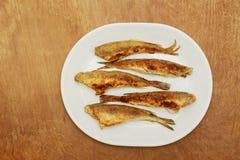 Fisknors som stekas i en platta Top beskådar Arkivfoto