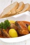 Fisksoppa med den kokta potatisen Royaltyfria Bilder