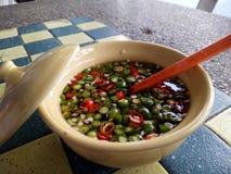 Fisksuace med chili-limefrukt Royaltyfri Bild