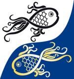 fisksymbol Royaltyfri Bild