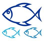 Fisksymbol Arkivfoton