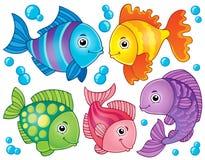 Fisktemat avbildar 4 Arkivbild