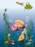 fiskvärld vektor illustrationer