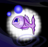 fiskviolet vektor illustrationer