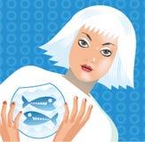 fiskzodiac Royaltyfri Bild