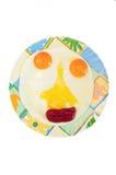 Fisonomía de la diversión de huevos fritos imagen de archivo