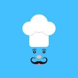 Fisonomía del cocinero en fondo azul Foto de archivo libre de regalías