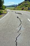 Fisrt Signs of Earthquake Damage on The Road to Kaikoura. Royalty Free Stock Images