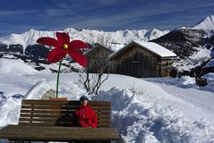 Fiss, el Tirol, Austria imágenes de archivo libres de regalías