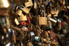 Fissa un ponte a Parigi Fotografia Stock