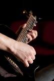 Fissazione dell'umore con la mia chitarra Immagine Stock