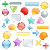 Fissi i simboli e le figure colorati Illustrazione di Stock