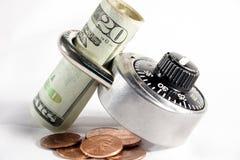 Fissi i soldi Fotografia Stock