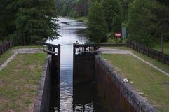 Fissi il canale del augustow - Polonia Immagini Stock