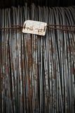 Fissi il metallo con corrosione per l'armatura in baie Fotografia Stock