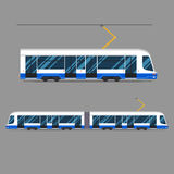 Fissi il trasporto municipale di massa della raccolta urbana dei veicoli di transito rapido di vettore Immagini Stock