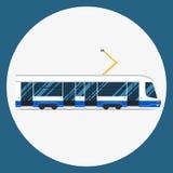 Fissi il trasporto municipale di massa della raccolta urbana dei veicoli di transito rapido di vettore Immagini Stock Libere da Diritti