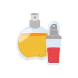 Fissi la fragranza dello spruzzo della bottiglia di vetro della raccolta Fotografie Stock