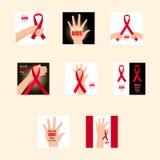 Fissi la Giornata mondiale contro l'AIDS 1° dicembre Immagini Stock Libere da Diritti