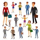 Fissi la progettazione di caratteri Gruppo dell'ufficio Vettore donne dell'uomo royalty illustrazione gratis