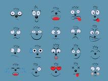 Fissi le emozioni Espressione facciale illustrazione di stock