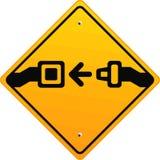 Fissi le vostre cinture di sicurezza! Fotografia Stock
