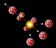 Fission av uran Arkivfoto