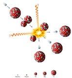 Fission nucléaire d'uranium Photographie stock