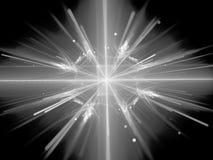 Fissione nella struttura in bianco e nero del grande collider dell'adrone Fotografie Stock