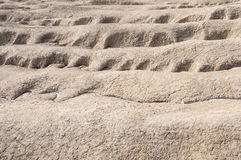 Fissuras do relevo da terra seca Fotografia de Stock Royalty Free