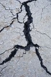 Fissure in asphalt Stock Photos