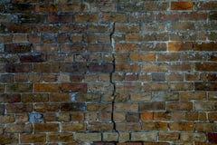 Fissure dans le mur Images libres de droits
