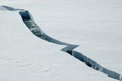 Fissure de glace Photographie stock