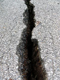 Fissure de route photos stock