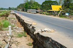 Fissure de route. Image stock