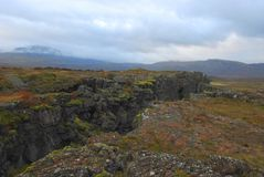 Earthquake Fissure, Iceland Royalty Free Stock Photo