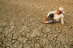Fissure globale de crise Photo libre de droits