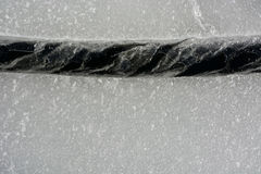 Fissure on the ice. Picture can be used as a background Royalty Free Stock Photos