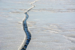 Fissure on the ice Royalty Free Stock Photos